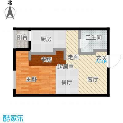 莫比国际53.72㎡G9户型1室1厅1卫