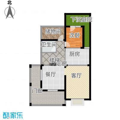 香江帝景209.51㎡叠加别墅一层户型5室2厅3卫