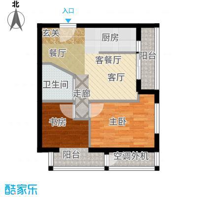 万丽国际公寓户型D 一室一厅一卫户型