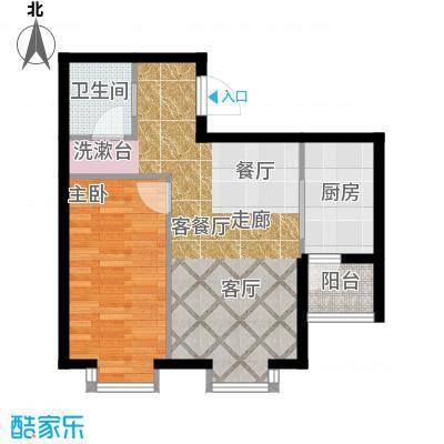 水岸天华98.17㎡三室一厅一卫户型