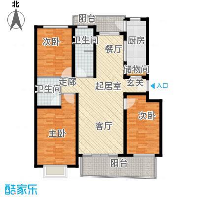 欧阳名邸135.00㎡房型: 三房; 面积段: 135 -135 平方米;户型