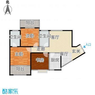 高新百悦城96.62㎡C1户型3室2厅2卫