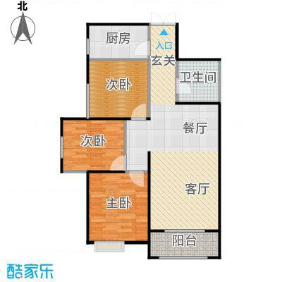 高新百悦城89.01㎡B户型3室2厅1卫