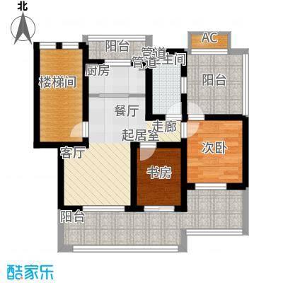 嘉兴丽苑64.63㎡A-100型阁楼户型2室1厅1卫