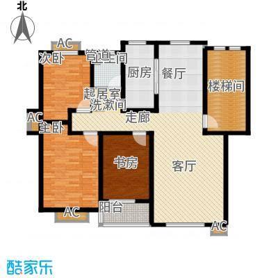 嘉兴丽苑123.43㎡C-120型户型3室2厅1卫
