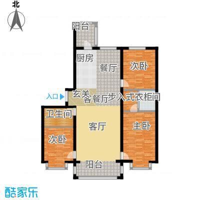 群力观江国际三室二厅使用面积113.17平米户型