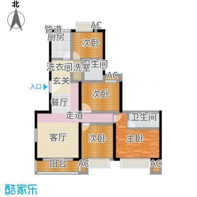 爱达花园紫藤园户型4室2卫1厨