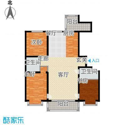 群力观江国际三室二厅使用面积116.98平米户型3室2厅