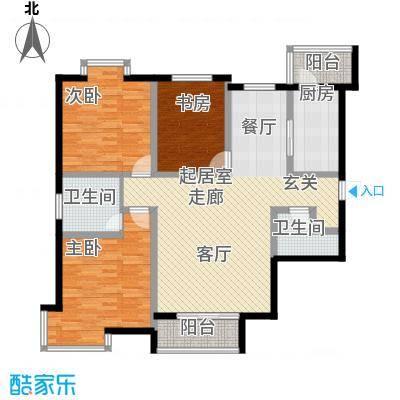 欧翔奥锋120.00㎡三室二厅户型