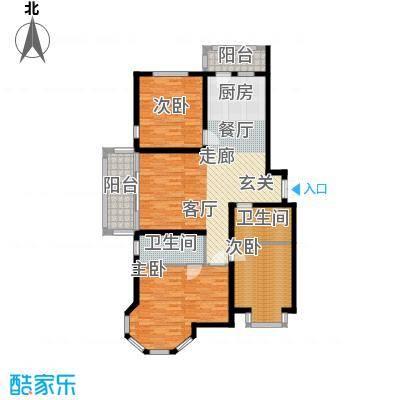 群力观江国际三室二厅使用面积100.59平米户型3室2厅