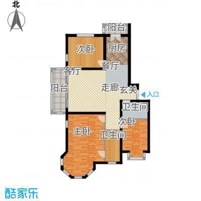 群力观江国际三室二厅使用面积108.05平米户型3室2厅