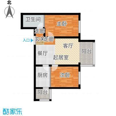 宝宇天邑澜湾103.34㎡13#两室1单元2号和4单元2号户型2室2厅1卫