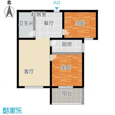 文津花园103.00㎡L-2户型两室两厅一卫户型2室2厅1卫