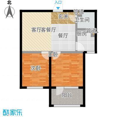 七星九龙湾79.88㎡G户型 两室两厅一卫户型2室2厅1卫