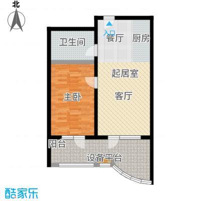 御庭春MOM∧白金海岸公寓79.65㎡E户型1室1厅1卫