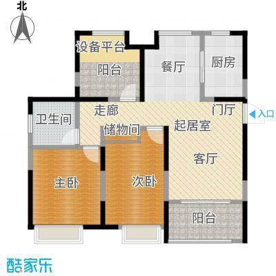 徽盐世纪广场A1户型2室2厅1卫