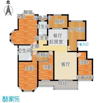 绅派金湖帝景199.00㎡四室二厅二卫户型