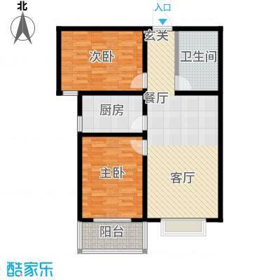 锦绣城87.00㎡两室两厅一卫户型
