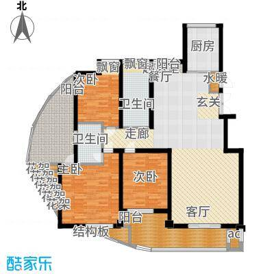 鑫都・阳光丽景143.00㎡3室2厅2卫户型