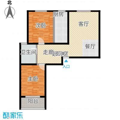 锦绣城101.00㎡两室两厅一卫户型