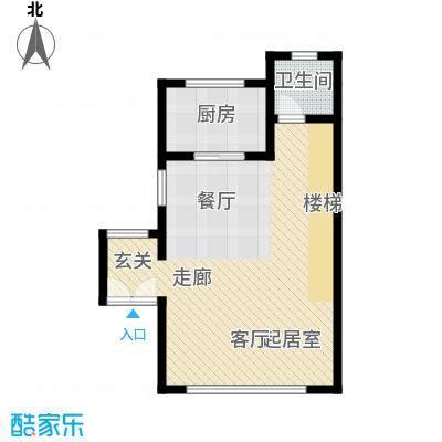 佳兆业东戴河57.40㎡别墅户型10室