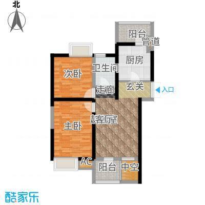 弘泽印象89.72㎡2室2厅1卫户型