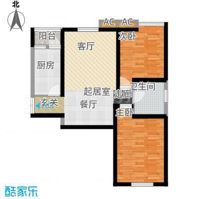 弘泽印象A02 二室二厅一卫 89.51平米户型