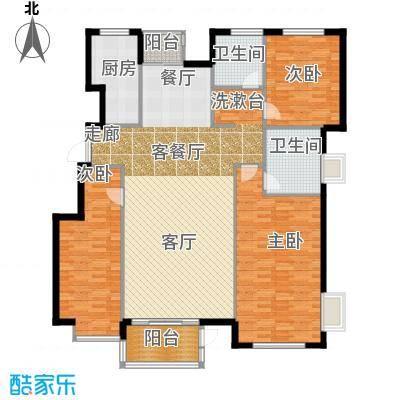 水岸天华145.30㎡三室两厅两卫户型