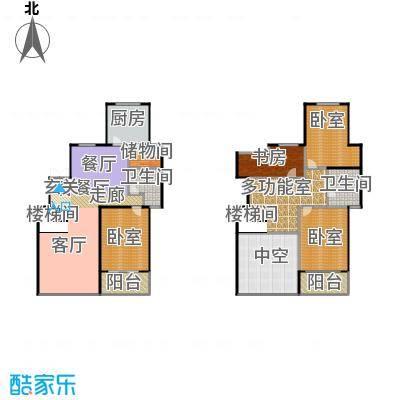 城发花园299.20㎡D户型四室两厅两卫户型4室2厅2卫