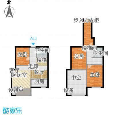 裕东公寓77.32㎡loft 1号楼标准层1-1-08(7A)户型
