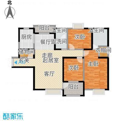 曲江观山悦146.81㎡3室2厅2卫1厨户型3室2厅2卫