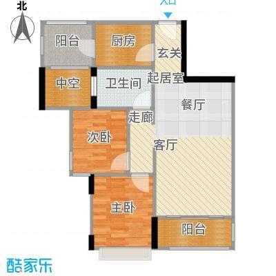梦云南・雨林澜山户型2室1卫1厨
