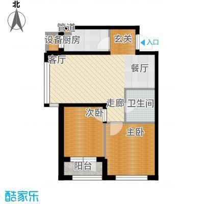 天缘水晶恋城70.64㎡B2户型二室二厅一卫户型2室2厅1卫