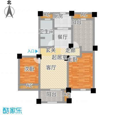伟业迎春世家95.00㎡2+1房2厅1卫户型2室2厅1卫-T