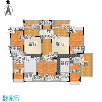 水岸花城13栋C梯 舒适三房四房户型