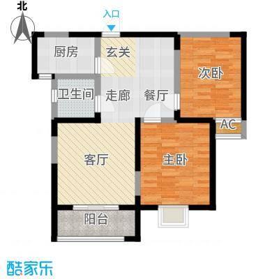 金业观湖大第92.00㎡3#E户型3室2厅2卫