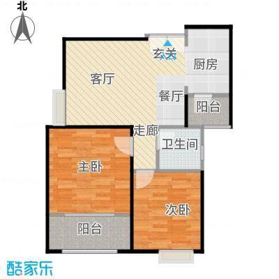 高新百悦城74.70㎡E户型2室2厅1卫