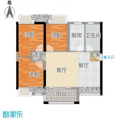 万科金悦华庭89.00㎡B3户型3室2厅1卫