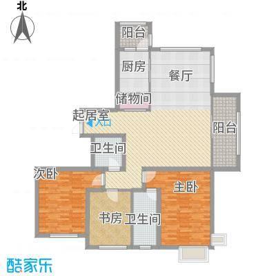 宏润・翠湖天地105.60㎡F5/J6户型3室2厅2卫