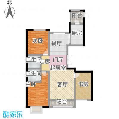 宏润・翠湖天地87.99㎡J2户型3室2厅2卫