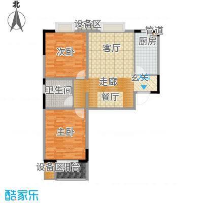 鑫丰近水庭院89.01㎡D 两室两厅一卫户型2室2厅1卫