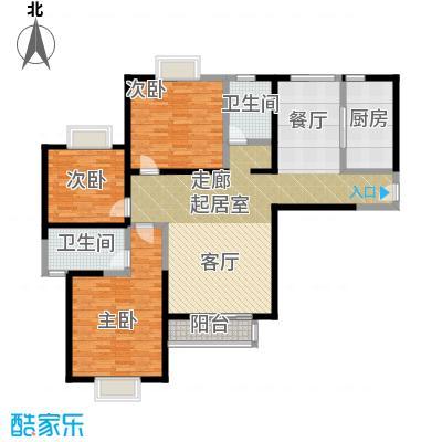 伊顿玫瑰公寓I型 三室两厅两卫户型