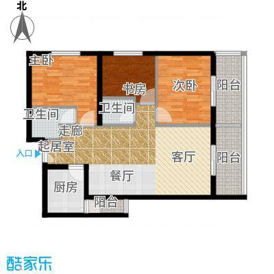 曲江易公馆103.53㎡A1东户型3室2厅2卫