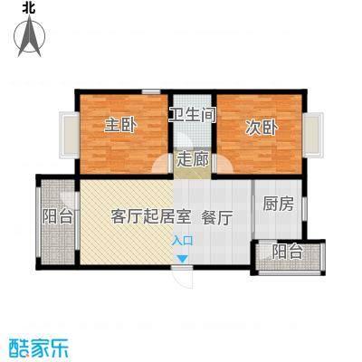 金道城101.03㎡26C两室两厅一厅户型2室2厅1卫