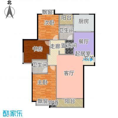 上海城市公寓135.00㎡三室二厅二卫136m2户型