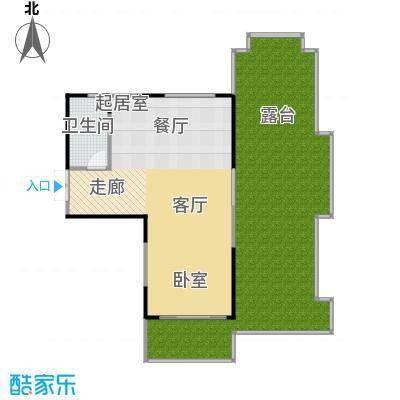 雅居乐云南原乡95.00㎡A11户型1室2厅1卫