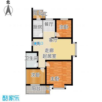 欢乐嘉庭三室二厅一卫 111.17㎡户型