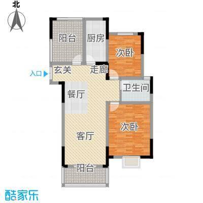 皇廷御苑3号楼E户型2室1厅1卫1厨