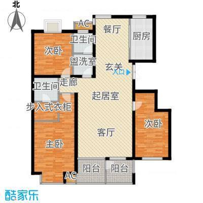 众成格林星城143.00㎡三室两厅两卫143平户型3室2厅2卫