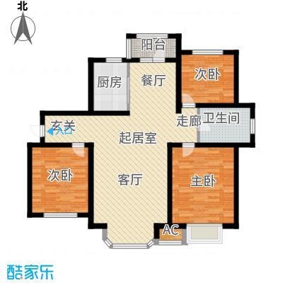 江南华府QQ户型3室1卫1厨